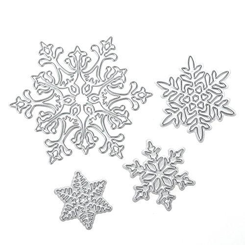Christmas Snowflake Craft Metal Cutting Dies Scrapbooking Stencils Template for DIY Album Photo Embossing Decorative Paper Card