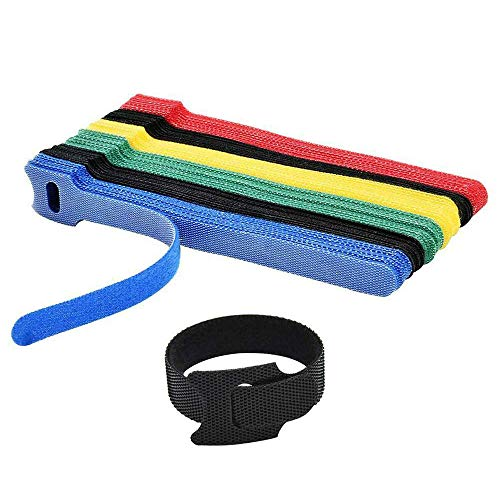 Sujetadores Reutilizables Bajo Gestión de Cables de Escritorio 50 Cables de Nailon Reutilizables Ganchos de Nailon Ajustables Ganchos de Nailon para Sujetar Cables de Nailon