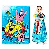 Franco Kids Bedding Super Soft Plush Micro Raschel Blanket, Twin/Full Size 62' x 90', Spongebob