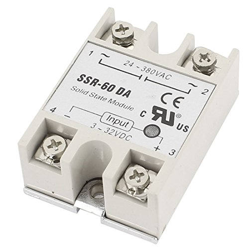 SSR-60DA 60A One Phase Machinery Control Solid State Relay w Base