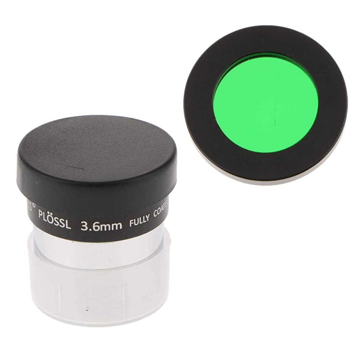 Prettyia for Celestron Telescope Eyepiece PL 3.6mm Fully Multi-Coated Film with 1.25 Inch Lens Color Filter Green Astronomy Photography Accessory Kit