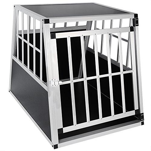 EUGAD Transportín de Aluminio para Perros Gatos Mascotas Jaula Transporte de Viaje...
