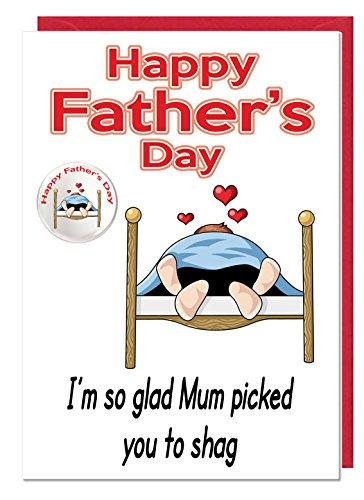 onbeleefd vader dag bed thematiekaart en badge voor een vader - ik ben zo blij mama geplukt u naar shag