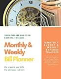 Monthly & Weekly Bill Planner / One-Year Organizer Log Book / Extra Large 8.5 x 11 in - 146 Pages: Personalized Monthly Budget & Weekly Expense ... Budget Journal / Glossy Cover (Deluxe)