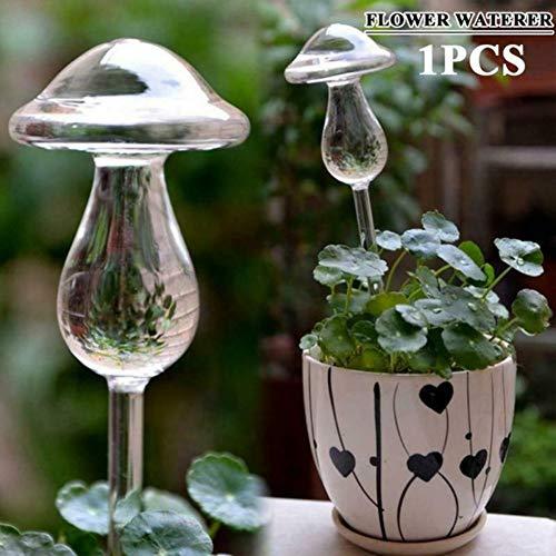 Dispositif d'arrosage paresseux en verre transparent papillon arrosage automatique fleur gravité infiltration fournitures de jardinage Balight
