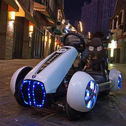 JBZP Paseo con batería en Toy-Kart Paseo en Coche con Control Remoto Bluetooth 12V Batería Grande de Doble accionamiento Coche eléctrico para niños Regalos de cumpleaños y Navidad
