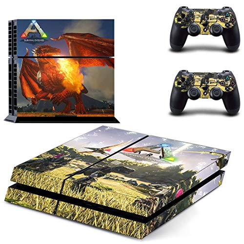 XIANYING Ark Survival Evolved Ps4-Aufkleber Play Station 4 Skin Sticker-Aufkleber für Playstation 4 Ps4 Console & Controller Skins Vinyl