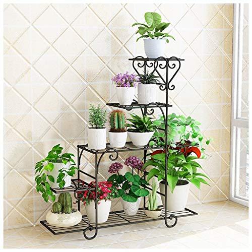 XLYYHZ Pflanzenständer Mehrschichtig Eisen Blumenständer Platzsparend Modern Einfacher Balkon Chlorophytum Indoor Outdoor 3 Farben Optional Mehrstufiges Blumenregal (Farbe: A, Größe: L)