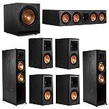 Klipsch 7.1.2 System - 2 RP-8060FA Dolby Atmos Speakers, 1 RP-504C, 4 RP-500M Speakers, 1 SPL-120