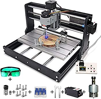MYSWEETY 2 in 1 5500mW CNC 3018 Pro Engraver Machine GRBL Control 3 Axis DIY CNC Router Kit with 5.5W Module Plastic Acrylic PCB PVC Wood Carving Milling Engraving Machine with Offline Controller