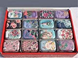 WNDSYN Storage Box Mini Scatola di Latta scatole di imballaggio Gioielli, Caramelle S stoccaggio Moneta Orecchini, Cuffie Regalo, Fiori Casuali, Small