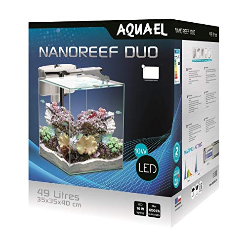 Aquael Nano Reef Duo 49L weiß - Riff Aquarium Set