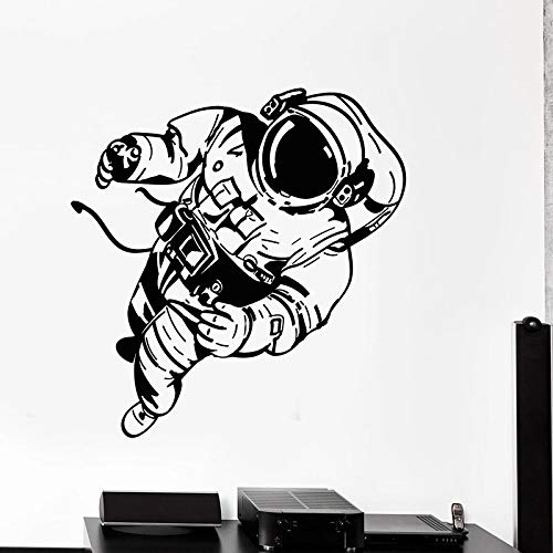 Creativo astronauta pared calcomana espacio universo astronauta disfraz ventana vinilo pegatina adolescente nios dormitorio guardera decoracin del hogar papel tapiz