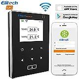 Elitech WiFi Enregistreur de données de température, Double Sonde Moniteur à distance, Stockage de données en nuage, Fonction Alarme par e-mail et App (RCW-600Wifi)