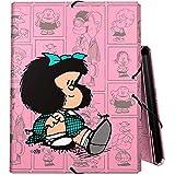 Carpeta Mafalda (cartón Duro Forrado, Tres Solapas y Cierre Mediante Goma)