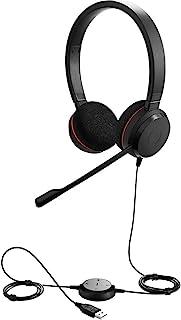 Jabra 100-55900000-02 Evolve 20 UC Stereo Wired Headphones, Black