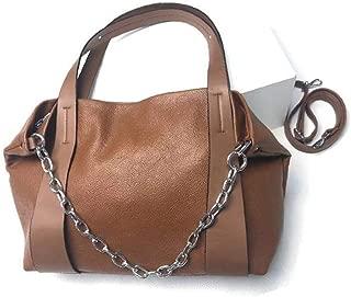 AMAZACER Women Tote Bag Handbag Hobo Shoulder Bag Large Capacity Detachable Chain Shoulder Bag Soft PU Leather Satchel (Color : Brown)