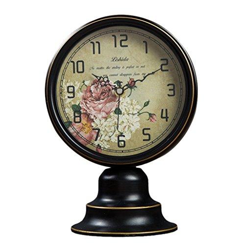 JCOCO Métal Bureau Horloge Américain Rétro Creative Facile à Lire Numérique Chambre Salon Table Horloge Table Décoration (Couleur : #3)