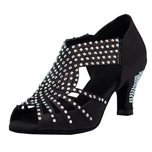 MGM-Joymod - Sandalias de baile para mujer, diseño de peep toe