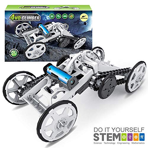 Mochoog STEM Toys Science Kit for Kids - 4WD Electric Building Toy Car - DIY Engineering Climber Toys - Science Experiment Kits for Boys Girls - Birthday Gift Toy for Kids Age 8 + Teens Adults