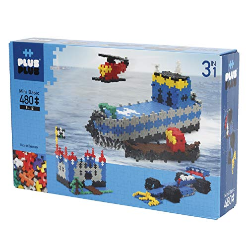 Plus-Puzzle Mini Basic 3-en-1, 480 Piezas (3720)