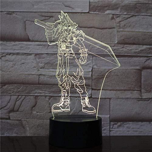 Juego Final Fantasy Ix Night Light Led Touch Sensor Decoración Light Birthday Holiday Holiday Gift Viviornitier3D Lámpara De Mesa