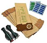 FSProdukte 20 bolsas de aspiradora con brida extra fuerte, 20 fragancias, EB340/350, cepillos de repuesto adecuados para Vorwerk Kobold 118 119 120 121 122 con ET340 / EB350