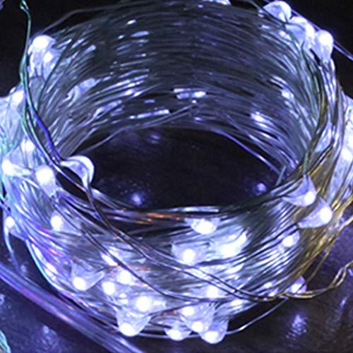 Deajing Cadena De Bombillas Guirnaldas Luminosas 100 LED Bombillas Guirnalda Luces Exterior Para JardíN Patio Fiesta Luces De Cadena Decorativo