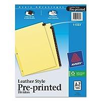 Avery製品–Avery–クリア強化レザータブディバイダー、25-tab、A - Z、文字、赤、25/セット–Sold As 1セット–ゴールドカラー印刷の前面と背面にタブ。–片面クリア強化Bindingエッジ。- - - - - - -