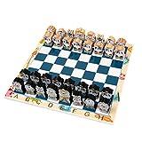 HLD Dibujos Animados Tridimensional International Chess CharkerBoard Set Principiante Cuerda Juguete Rompecabezas Juego Desarrollo Intelectual Ajedrez