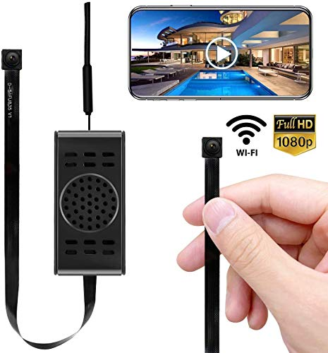 Spy Camera WiFi Hidden Cameras with Motion Detection, Mini Wireless Remote Live View with Free Phone App Full HD 1080P, Easy Setup Security Cam for Home, Nanny, Car, Office, Room, Indoor, Outdoor