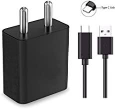 SUPPLE Moto M 64GB Compatible Mobile Fast Charger Adapter with 1 m Type C USB Cable (2 Ampere Output)
