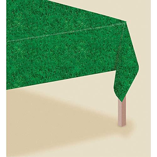 Amscan International Kunststoff-Tischdecke, Gras-Design
