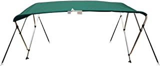 10 Optional Colors Available 3-4 Bow 13 Different Size Bimini Top Cover Includes Mounting Hardwares,Storage Boot with 1 Inch Aluminum Frame