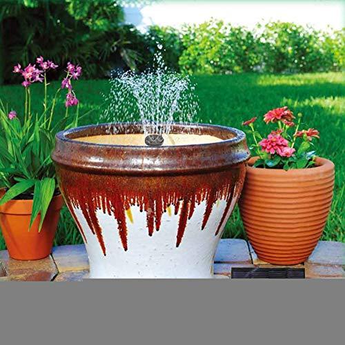 Denret3rgu 110x110mm Square Solar Powered Bird Bath Vertical Stream Water Pump Fountain