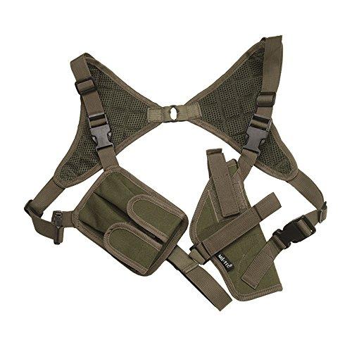 Mil-Tec - Pistolera de hombro verde verde oliva Talla:Einheitsgröße - einstellbar