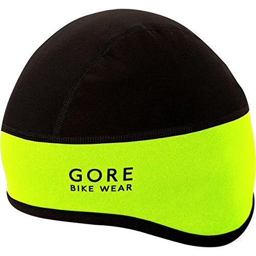 GORE BIKE WEAR Gorro ciclismo, GORE WINDSTOPPER, UNIVERSAL Helmet Cap, Talla 54-58, Amarillo neón/Negro, HHELMF089902