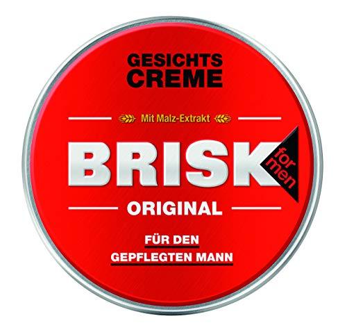 BRISK Original Gesichtscreme mit Malz-Extrakt – Für den gepflegten Mann – Feuchtigkeitsspendende Gesichtspflege – 6 x 125 ml