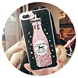 Liquid Glitter Case for iPhone Xs Max Xr Case for iPhone 6S X 8 7 Plus Phone Cases Cute Perfume Bottle Quicksand Dynamic Cover,01,6 Plus(6S Plus),19,Foriphonexs