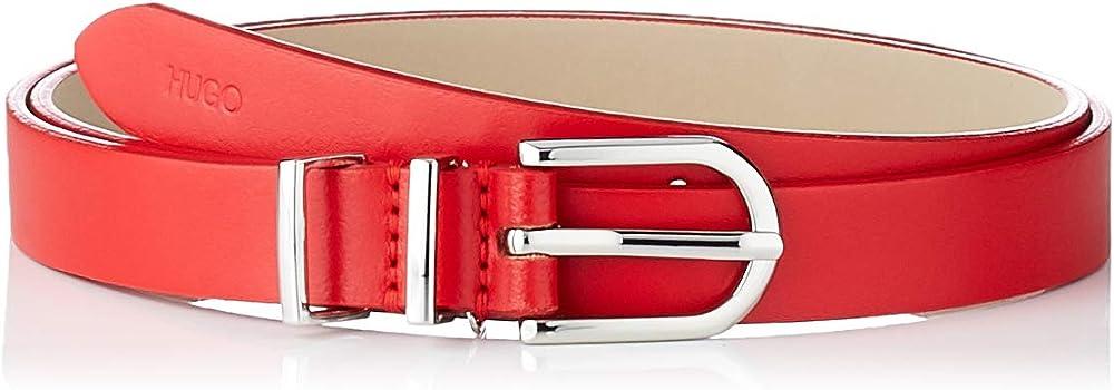 Hugo boss , cintura in pelle italiana con passanti doppi in metallo,per  donna 50391313