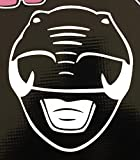 MMPR = Black Ranger Helmet Decal