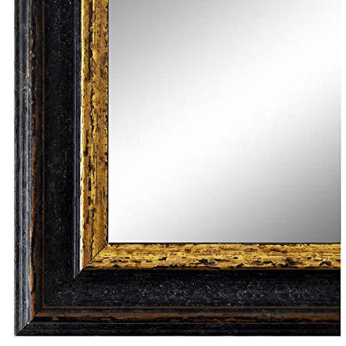 Online Galerie Bingold Spiegel Wandspiegel Schwarz Gold 60 x 120 cm - Barock, Antik, Landhaus, Vintage - Alle Größen - Massiv - Holz - AM - Forli