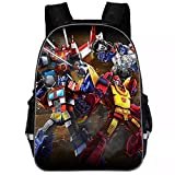 BYCAN Kids Transformers School Backpack-Students Back to School Book Bag-Canvas Travel Backpack Bumblebee,Optimus Prime (12)
