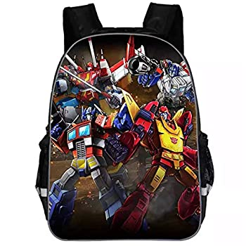 BYCAN Kids Transformers School Backpack-Students Back to School Book Bag-Canvas Travel Backpack Bumblebee,Optimus Prime