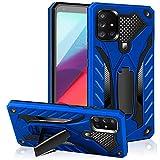 AFARER S20 Plus - Funda de calidad militar a 3,6 m de altura de caída, protección extrema, armadura, carcasa doble con soporte plegable para Samsung Galaxy S20 Plus, color azul