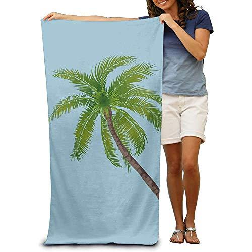 Leo-Shop Toalla de Playa de Viaje PNG de Palmera Manta de Toalla de Gran tamaño Adecuado para Piscina de baño Deportivo Toalla de Fibra Ultrafina