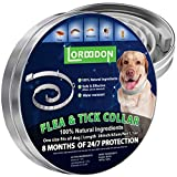 LORDDDON Flea and Tick Prevention Collar One Size Fits All Dogs and Cats Flea and Tick Control with Adjustable Design Natural Ingredients Waterproof - 8 Months Protection