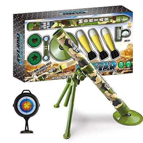 Kids Tactical Toys Bundle, Mörser Spielzeug, Sicherheitsrakete, Keine Verletzung, Taktische Sicherheitsrakete Spielzeug Für Kinder 16,4 Ft Startschwamm, Interessante Schießspielzeug