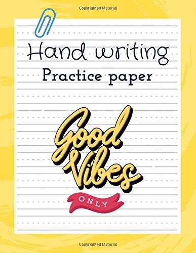 handwriting practice paper: Cursive Practice Paper Notebook with Dotted Sheets for Students to Practice Cursive