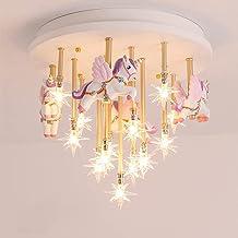 Kroonluchter Nordic Net Red Star plafondlamp creatieve cartoon Pegasus LED kinderkamer jongens meisjes prinses slaapkamer ...
